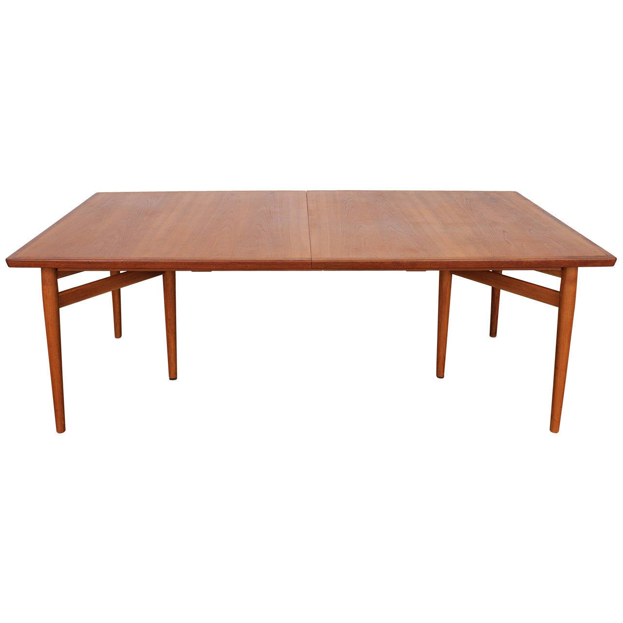 Arne Vodder Teak Danish Dining Table Produced By Sibast At 1stdibs