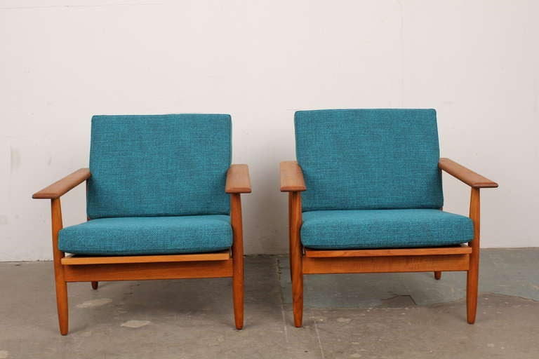 danish midcentury modern teak lounge chairs 2