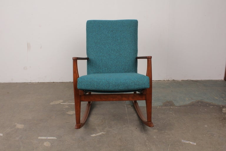 Solid Wood Mid Century Rocker At 1stdibs