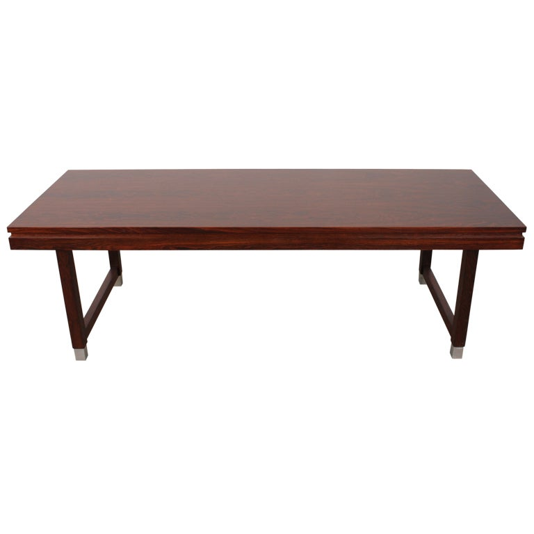 Danish Mid Century Modern Occasional Side Coffee Table Rosewood: Danish Mid-Century Modern Rosewood Coffee Table By Kai