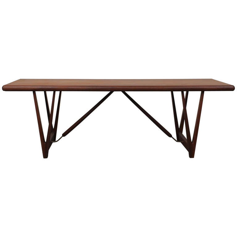 Architectural mid century teak coffee table at 1stdibs for Architectural coffee table