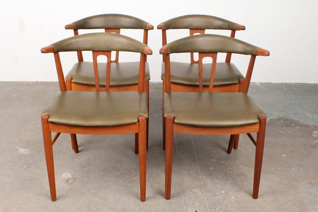 rare danish mid century modern teak dining chairs at 1stdibs