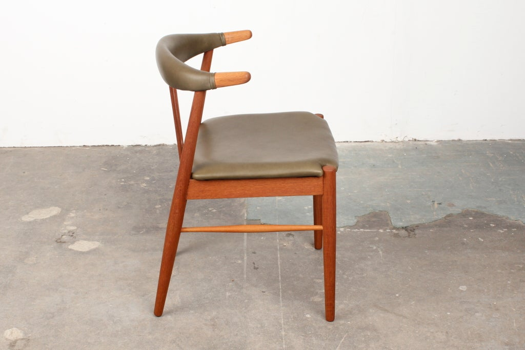 Rare Danish Mid Century Modern Teak Dining Chairs At 1stdibs