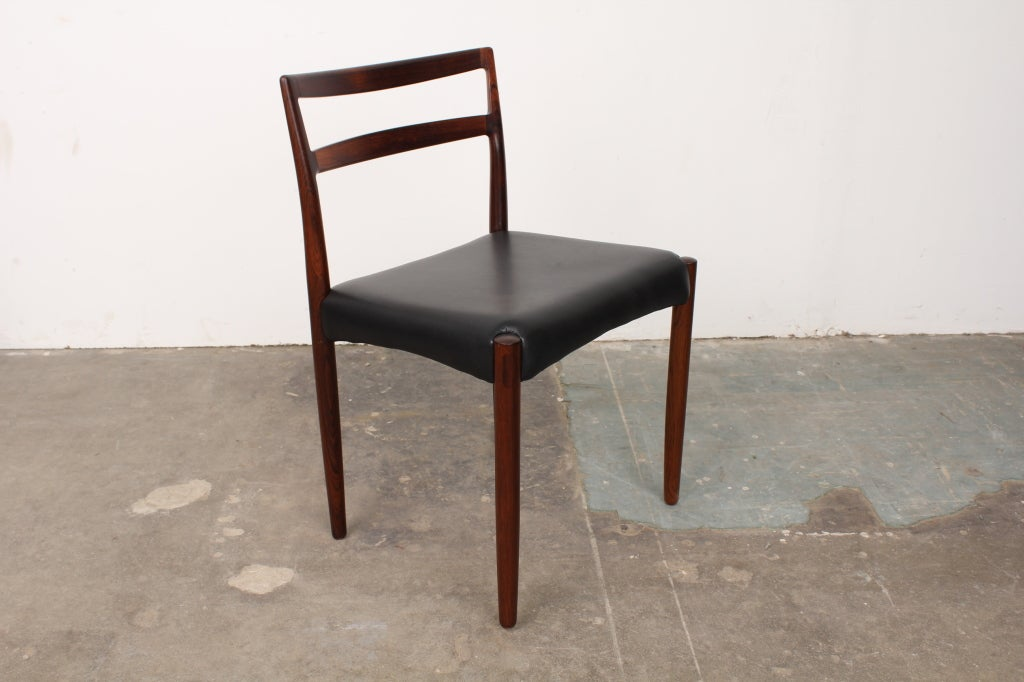 Set Of 8 Danish Mid Century Modern Rosewood Dining Chairs At 1stdibs