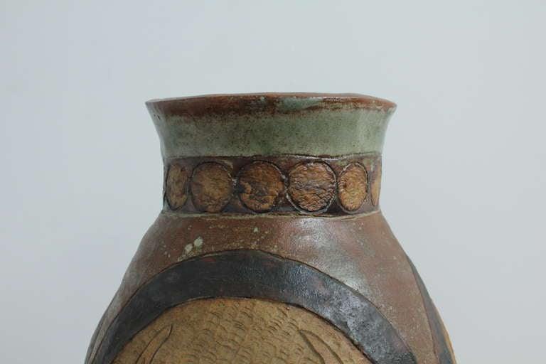 Unknown Mid-Century Modern Ceramic Vase For Sale