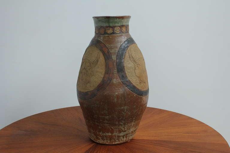 Mid-20th Century Mid-Century Modern Ceramic Vase For Sale