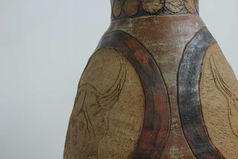Mid-Century Modern Ceramic Vase For Sale 1