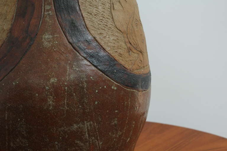 Mid-Century Modern Ceramic Vase For Sale 2