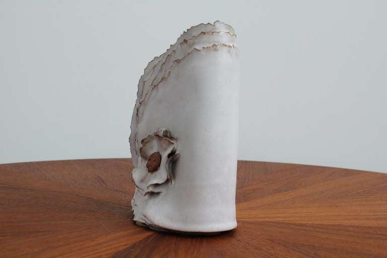 """Unknown Delicate Ceramic """"Ribbon"""" Vase For Sale"""
