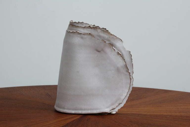 "Mid-20th Century Delicate Ceramic ""Ribbon"" Vase For Sale"