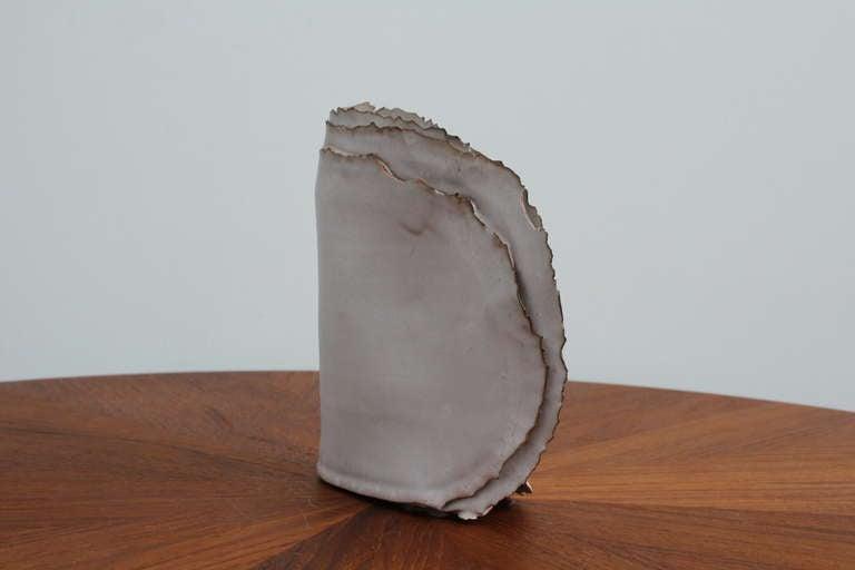 """Delicate Ceramic """"Ribbon"""" Vase For Sale 1"""