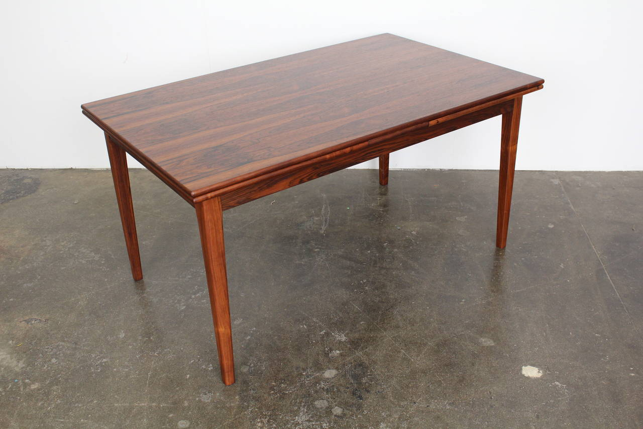 Danish Midcentury Rosewood Expandable Dining Table At 1stdibs