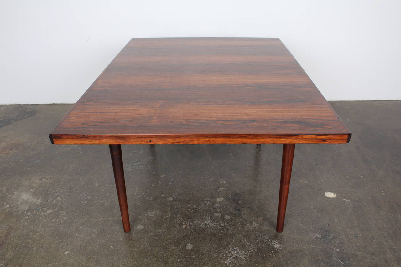 mid century modern danish rosewood dining table for sale at 1stdibs