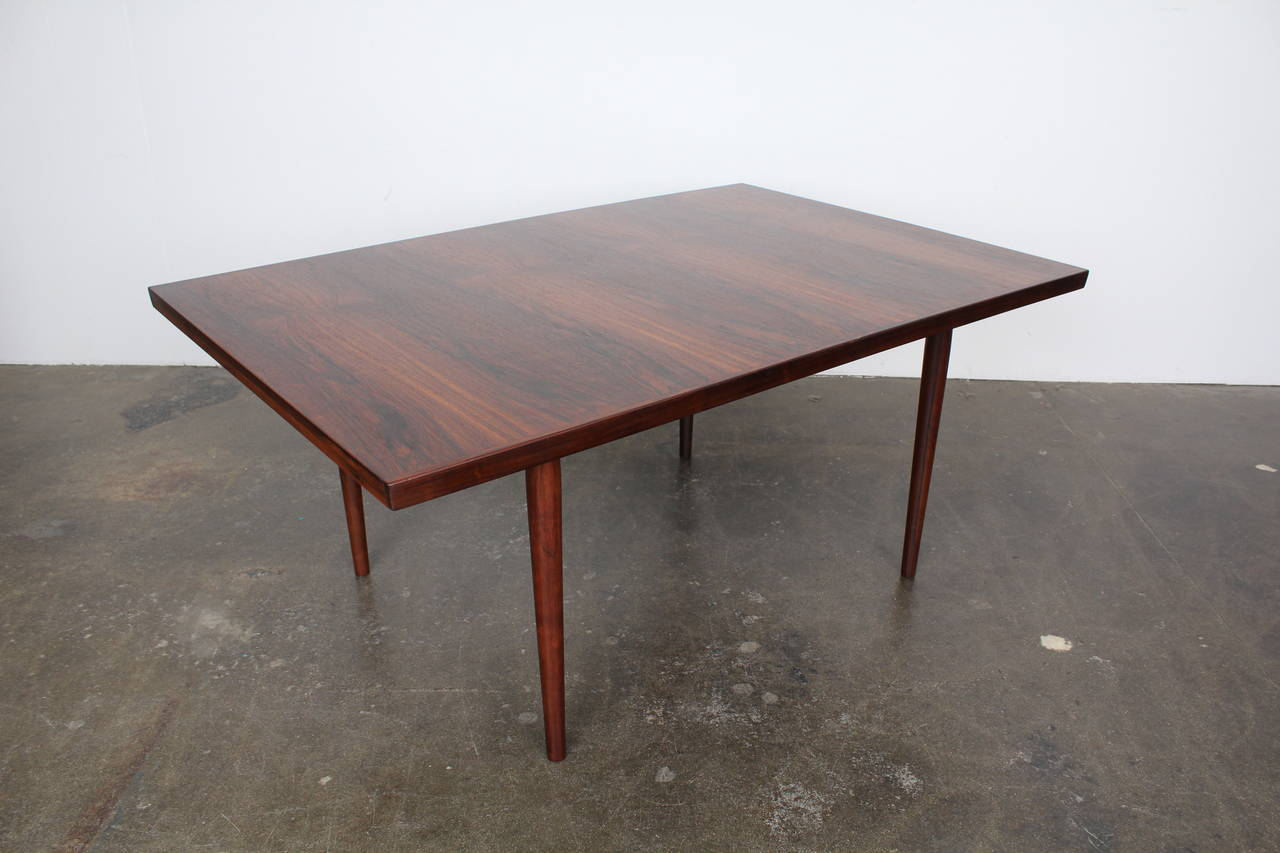 Mid Century Modern Danish Rosewood Dining Table For Sale