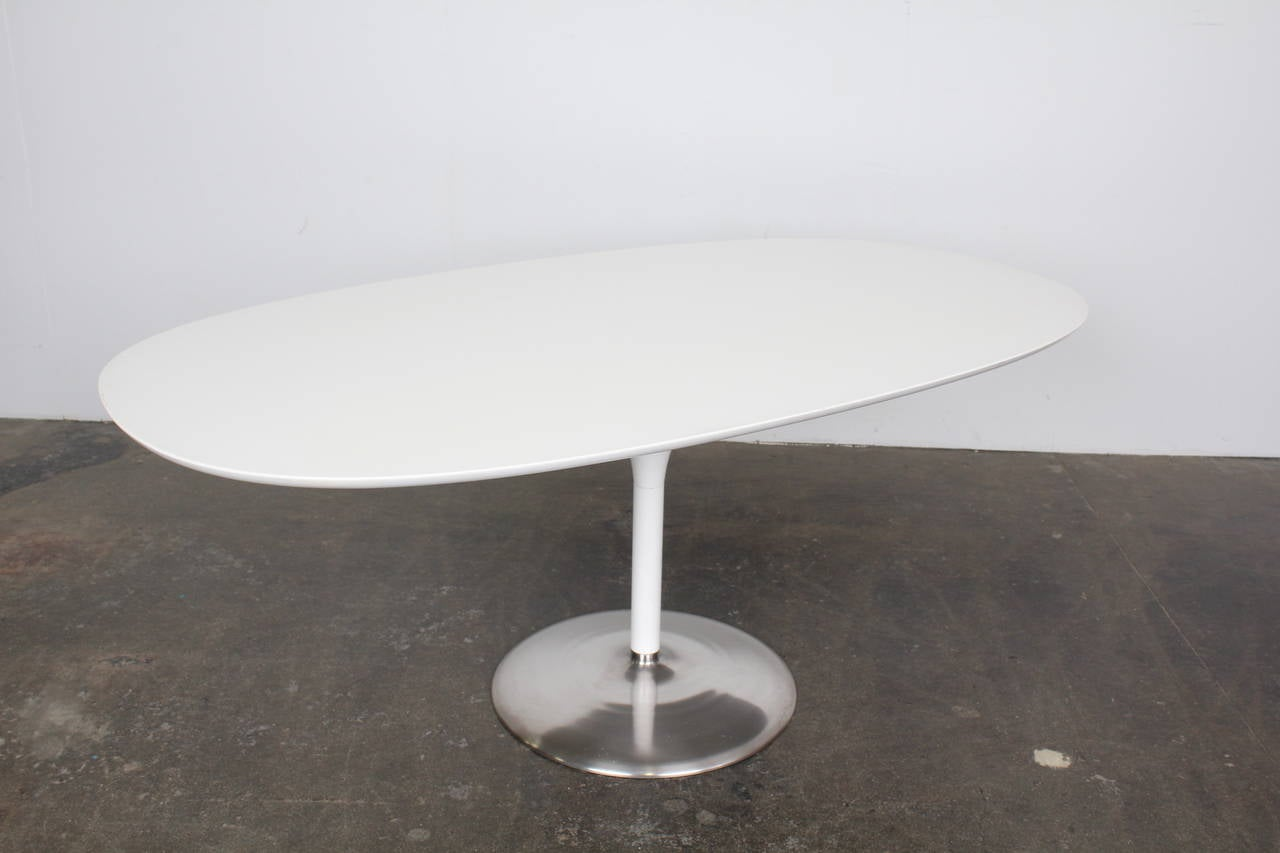 Mid Century Modern Danish Oval Dining Table At 1stdibs