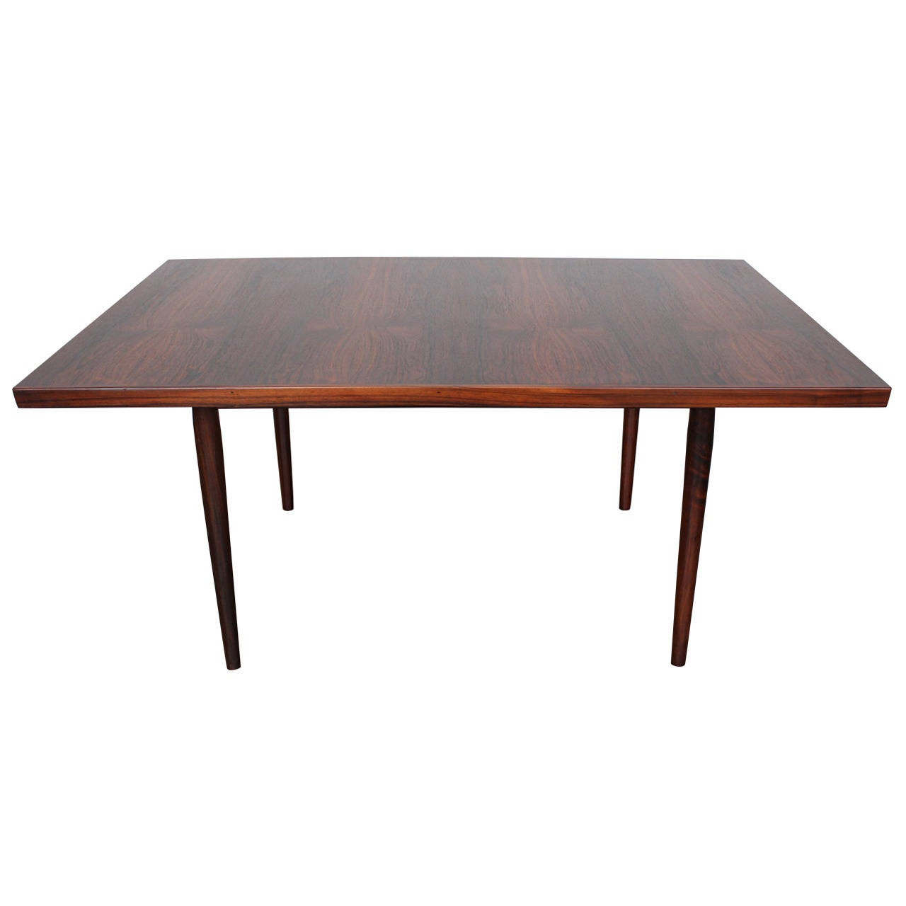 Mid century modern danish rosewood dining table for sale for Mid century modern dining table