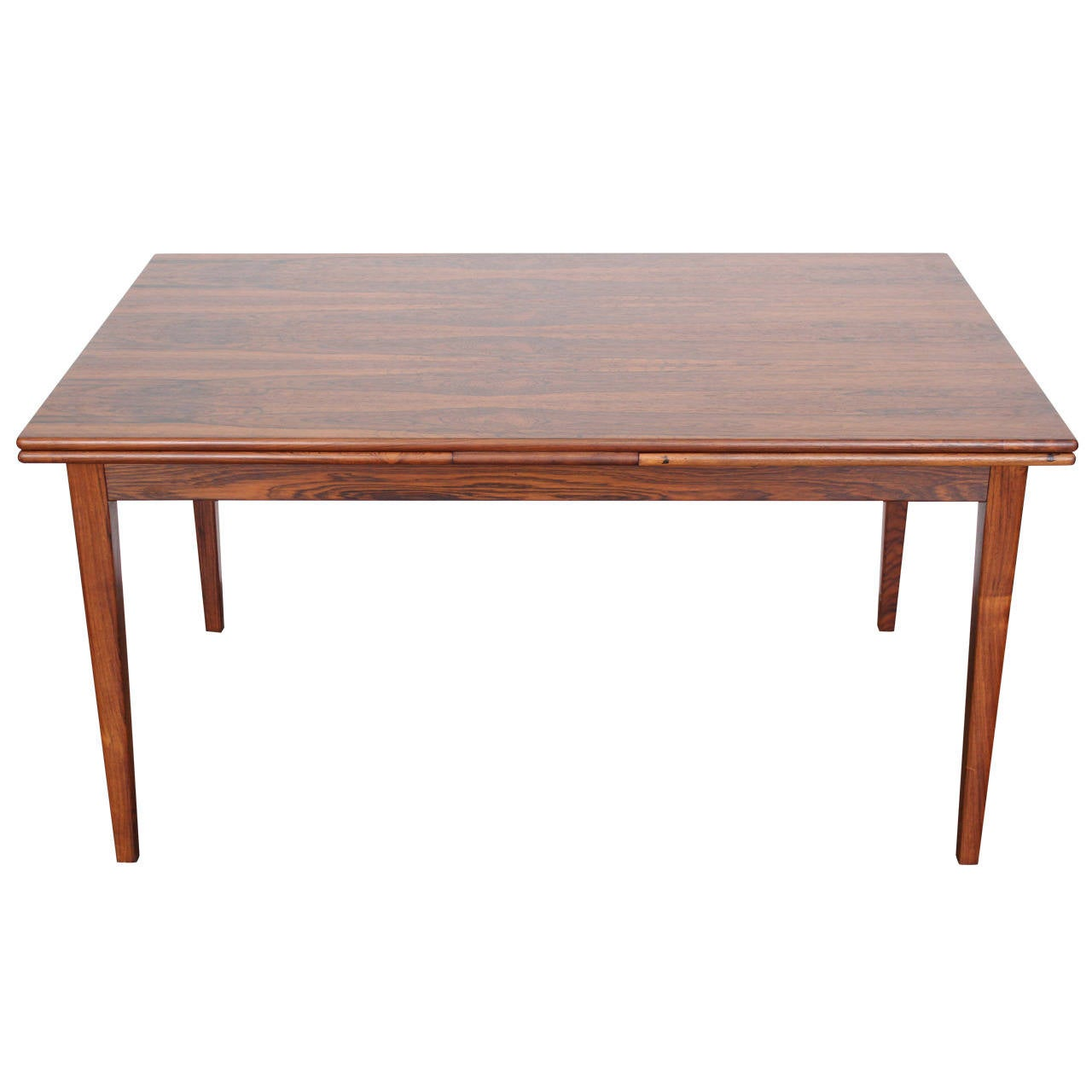 Danish midcentury rosewood expandable dining table at 1stdibs for Expandable dining table