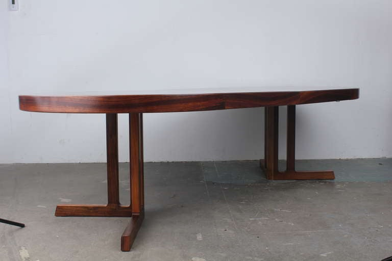 Kai kristiansen danish modern rosewood extendable 8 ft for 7 foot dining room table