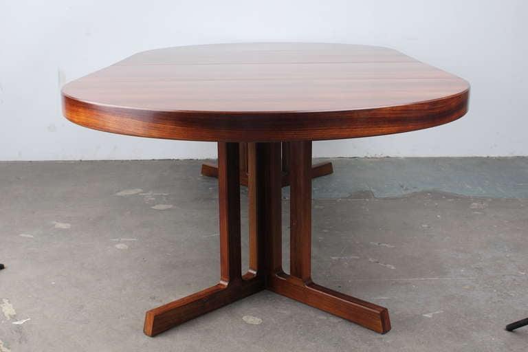 Kai kristiansen danish modern rosewood extendable 8 ft for 9 foot dining room table