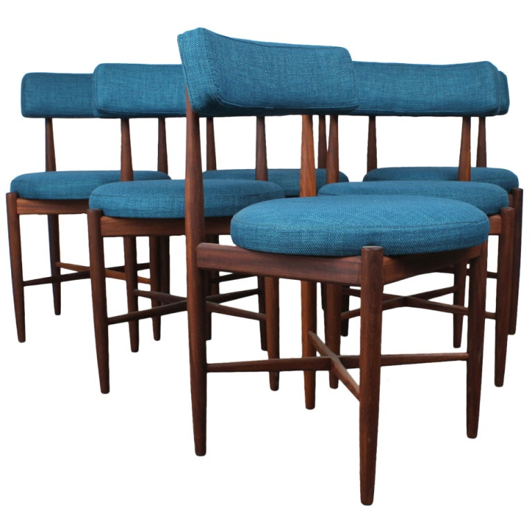 a set of 6 mid century modern dining chairs by g plan at