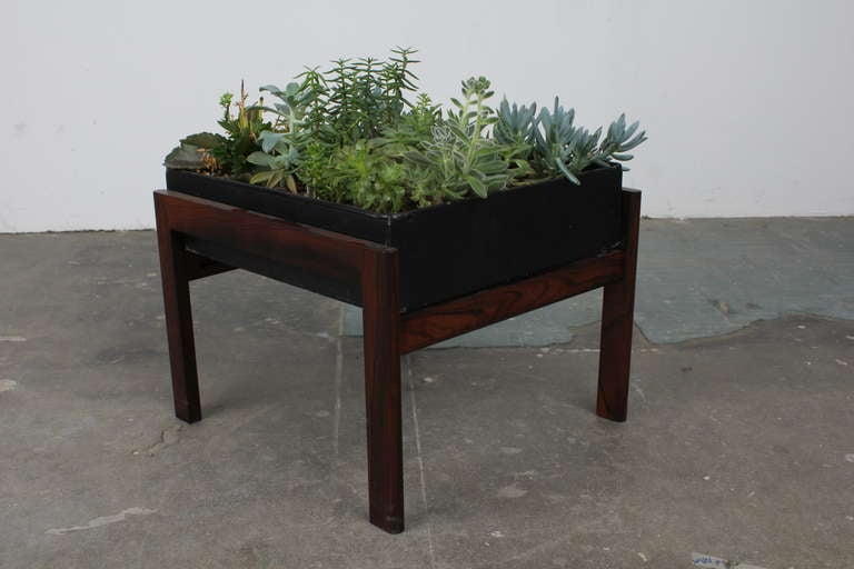 Mid Century Modern Rosewood Planter at 1stdibs