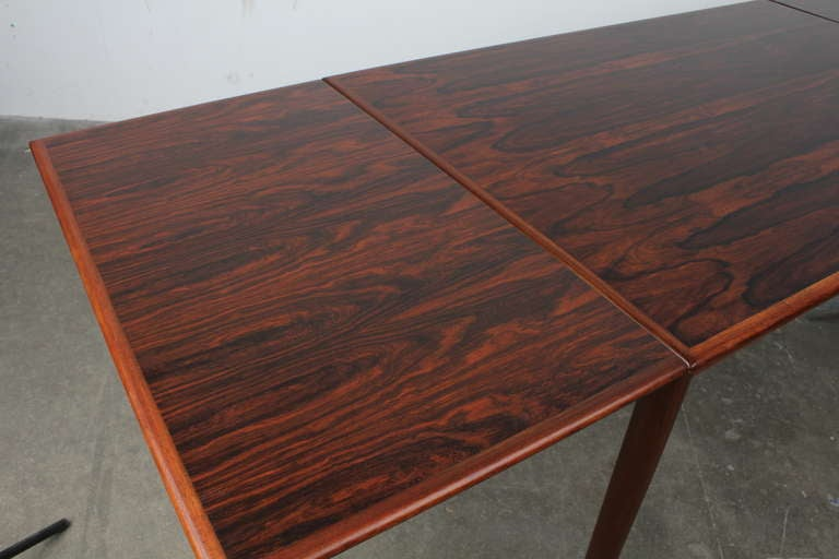Mid century modern danish rectangular rosewood dining table at 1stdibs