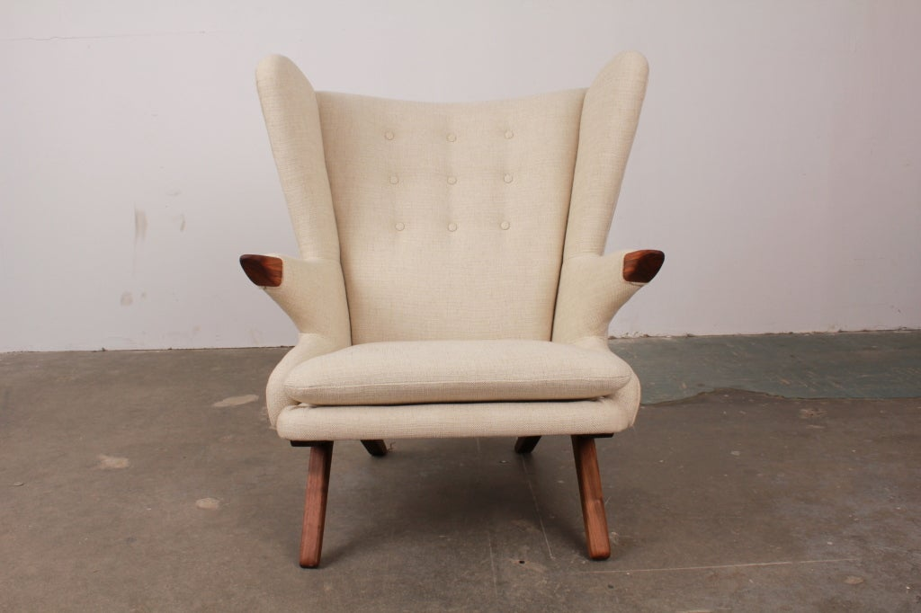 Newly made reproduction of danish lounge chair by svend for Danish modern reproduction