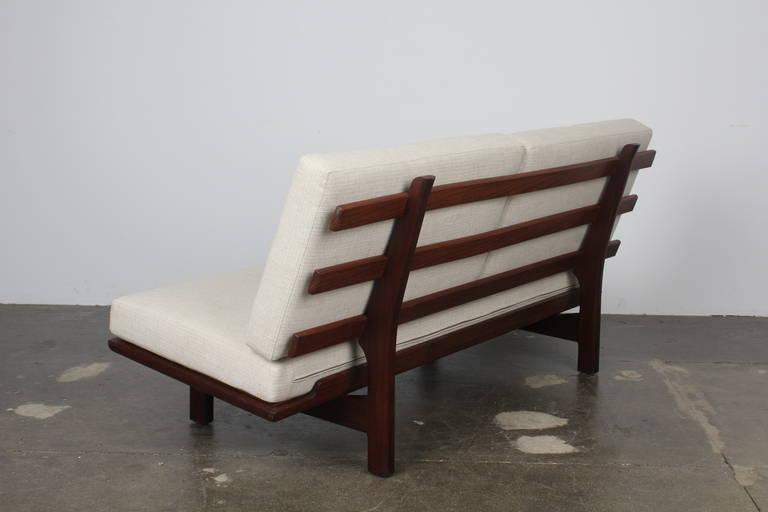 Danish Modern Park Bench Style Sofa In The Manner Of Hans Wegner For