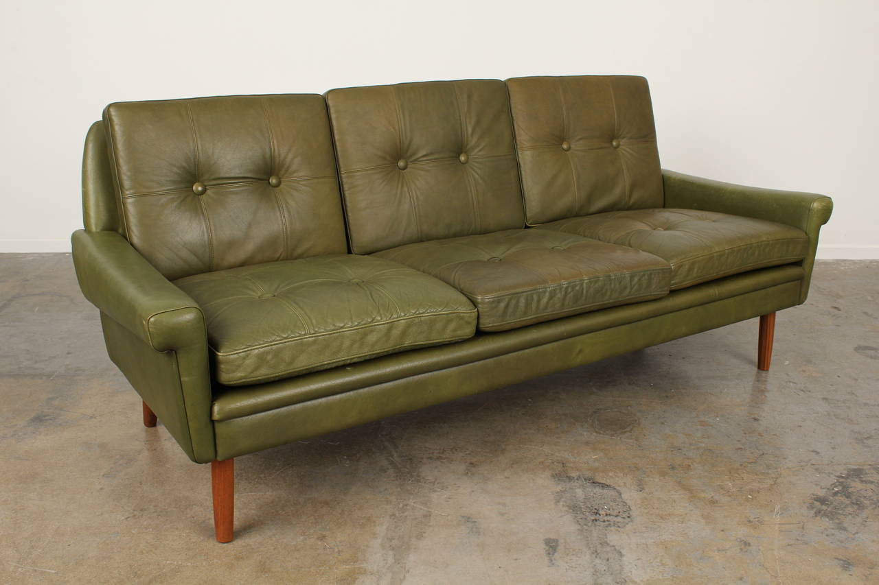 ... Mid Century Leather Sofa by Skipper Mobler is no longer available