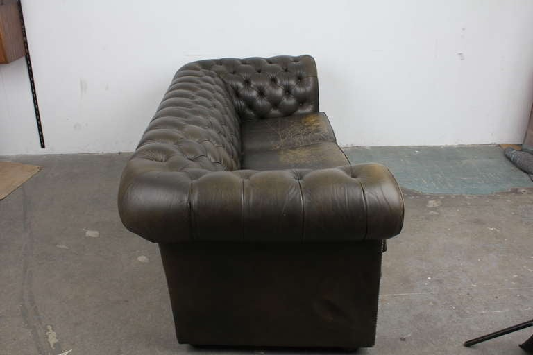 Vintage English Chesterfield Sofa image 7