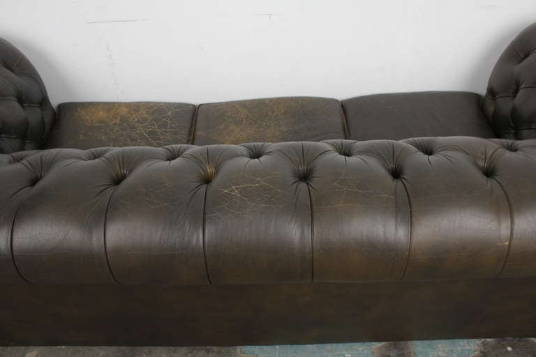 Vintage English Chesterfield Sofa image 9