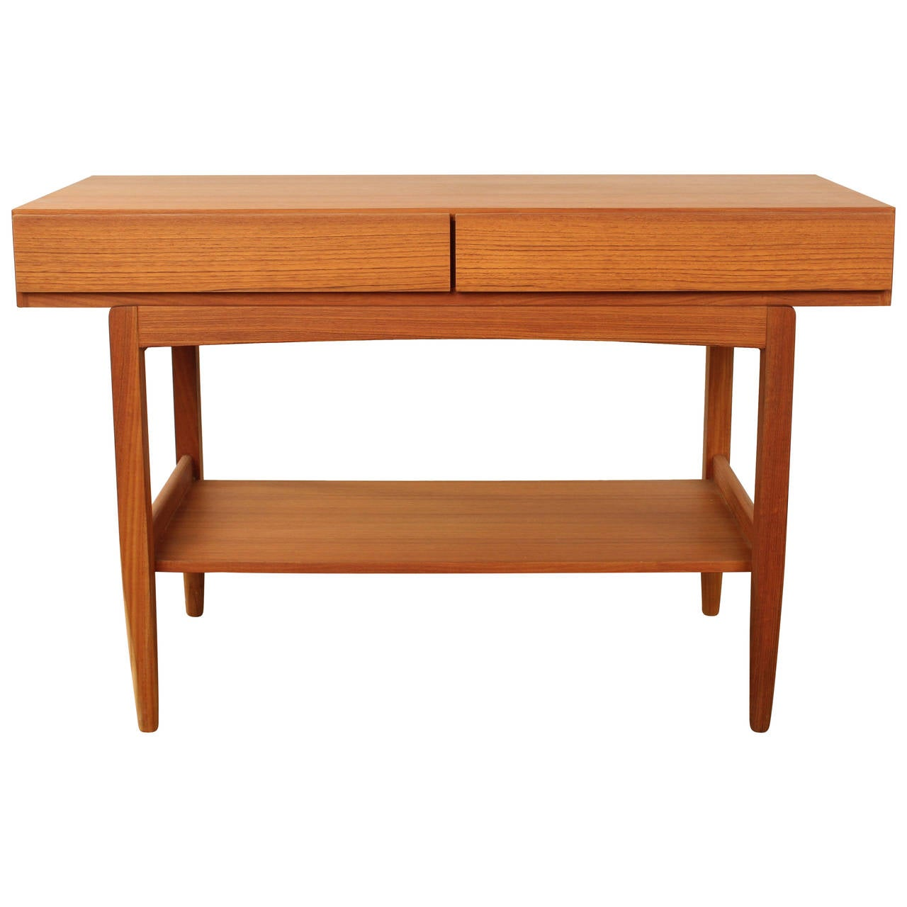 Danish mid century console table by ib kofod larsen at 1stdibs for Table console
