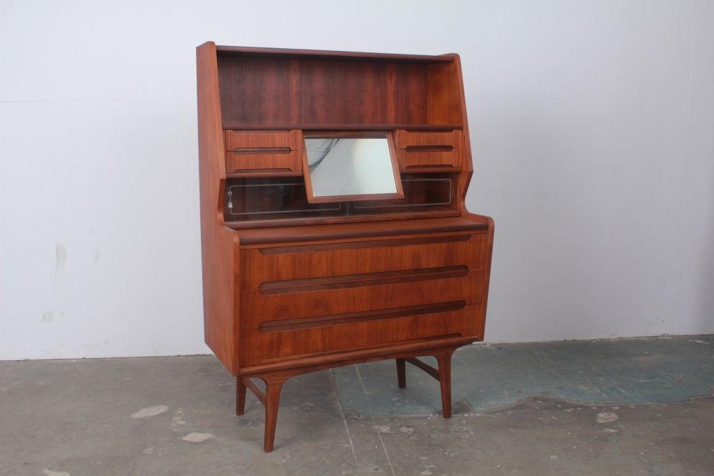 mid century modern secretary desk for sale danish small