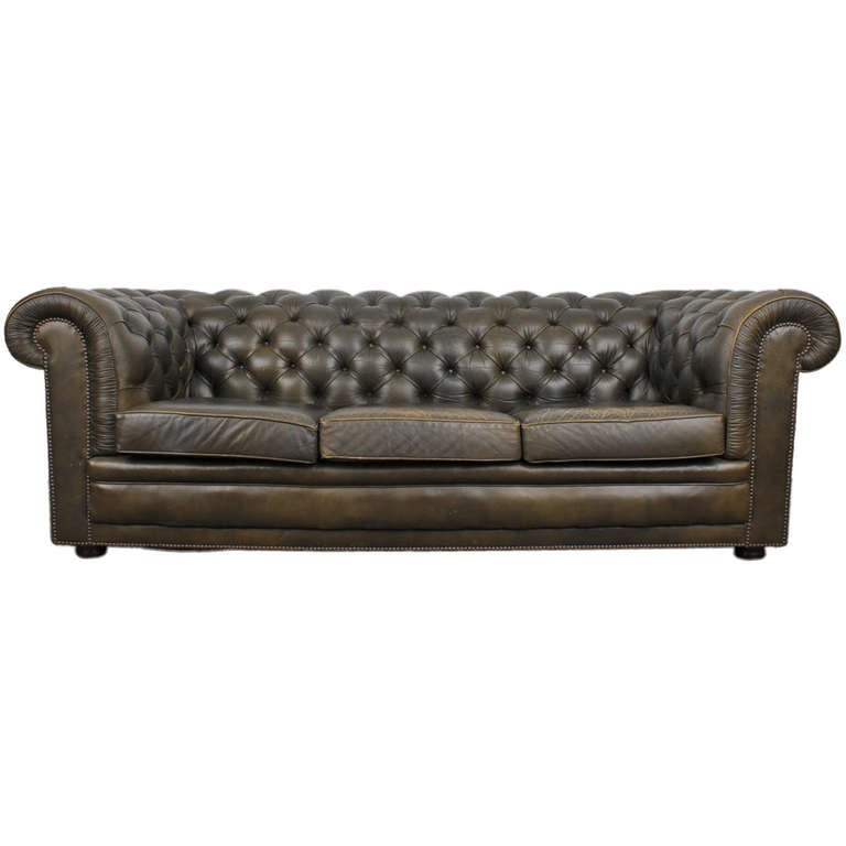 Vintage English Chesterfield Sofa