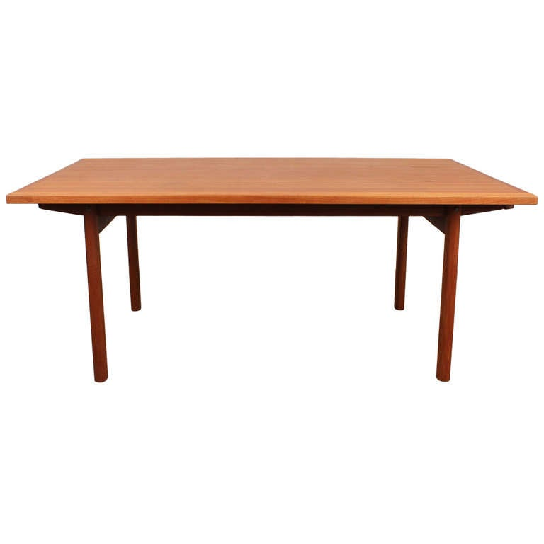 Large danish mid century modern teak dining table at 1stdibs for Big modern dining table