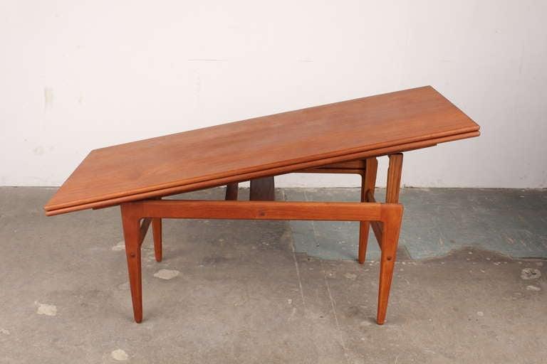 Danish mid century modern transforming coffee table at 1stdibs for Transforming coffee table