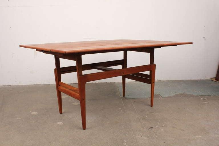 Danish Mid Century Modern Transforming Coffee Table At 1stdibs