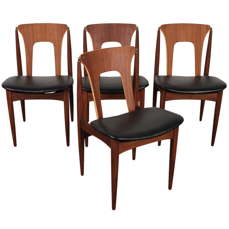 Cool Dining Room Chairs: Set Of 4 Unique Danish Mid Century Dining Chairs At 1stdibs