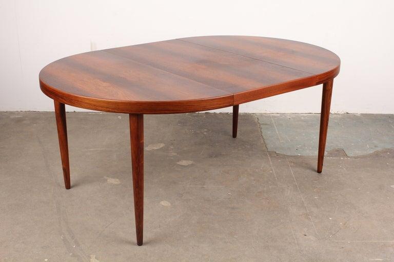 Kai Kristiansen Mid Century Modern Danish Rosewood Round Dining Table