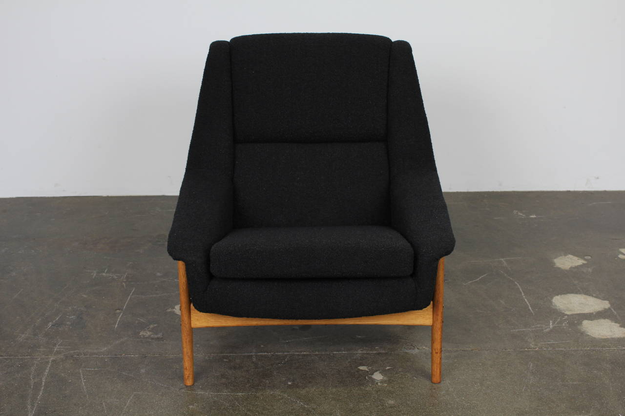Folke Ohlsson For Dux Tall Back Lounge Chair At 1stdibs