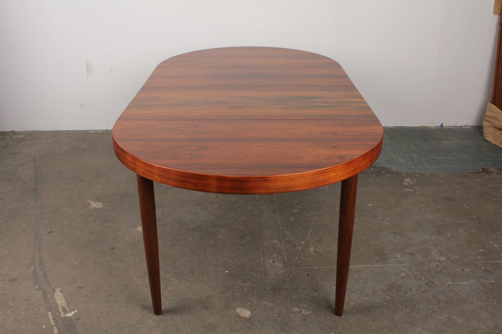 rosewood round danish mid century modern dining table at
