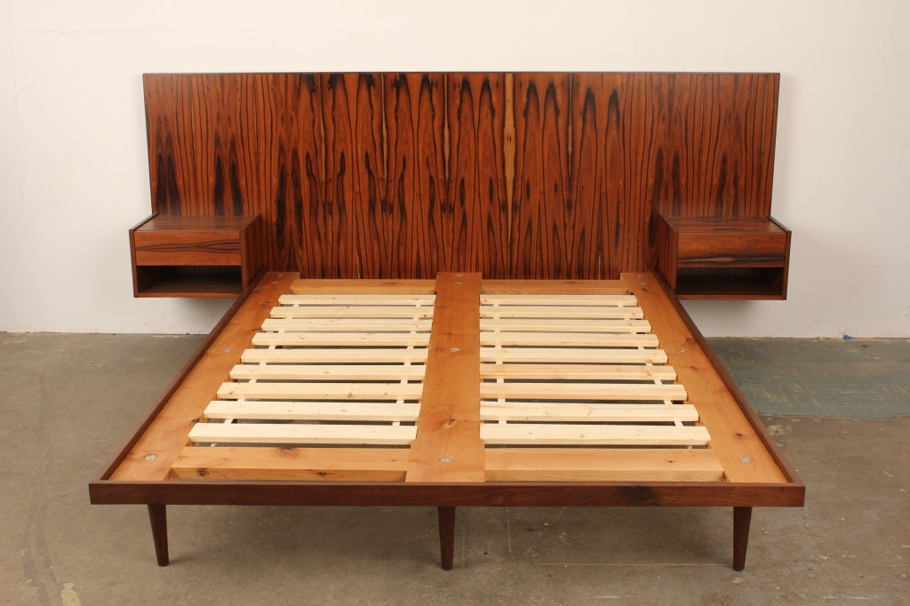 Newly made danish modern style rosewood bed at 1stdibs for Danish modern sofa bed