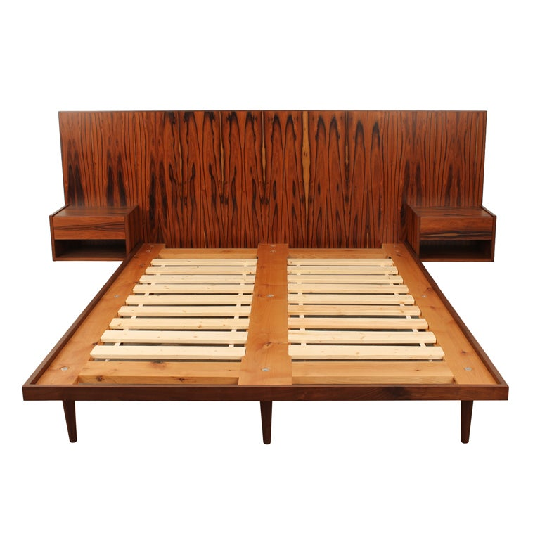 Newly made danish modern style rosewood bed at 1stdibs Danish modern furniture