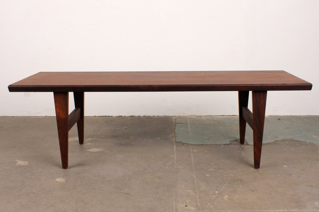 Rosewood coffee table newly refinished.