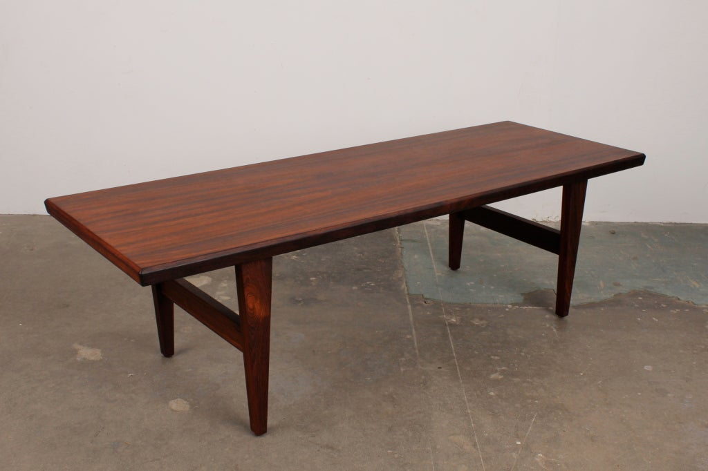 Mid-20th Century Danish Mid Century Modern Rosewood Coffee Table