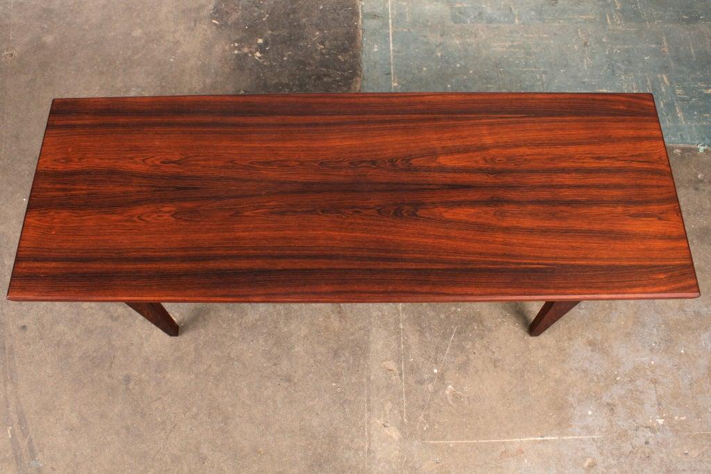 Danish Mid Century Modern Rosewood Coffee Table 2