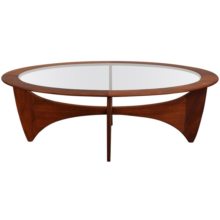 Mid century modern oval coffee table by vb wilkins for g for Contemporary oval coffee tables