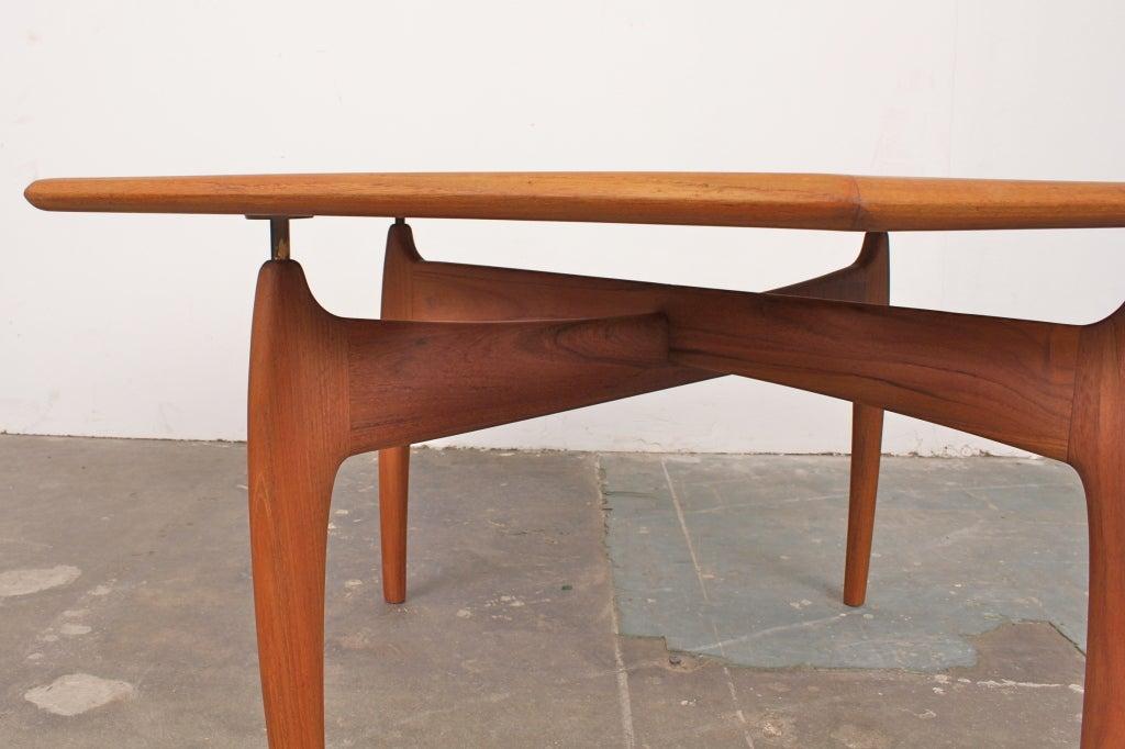 Teak Mid Century Danish Modern Coffee Table At 1stdibs