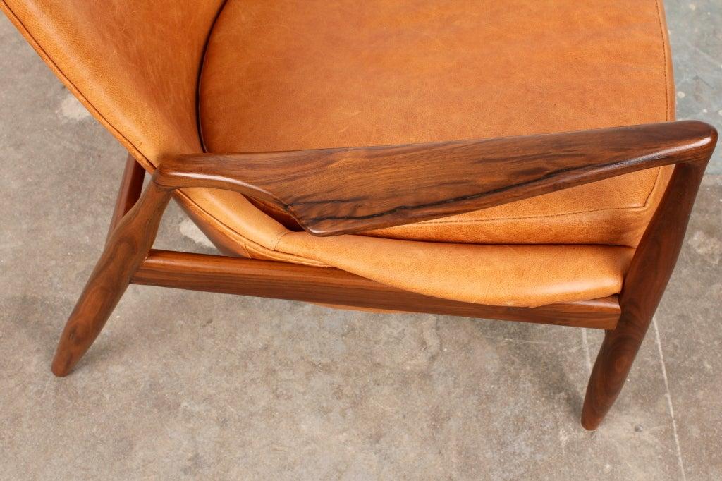 Mid century modern ib kofod larsen salen chair for Reproduction designer furniture