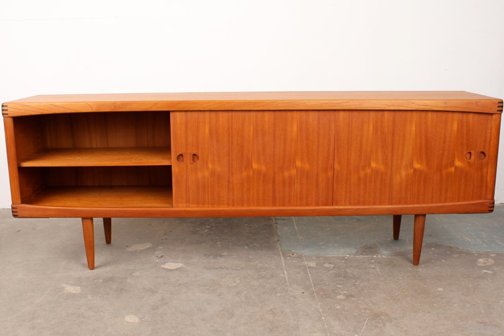 danish mid century danish modern sideboard by h w klein for sale at 1stdibs. Black Bedroom Furniture Sets. Home Design Ideas